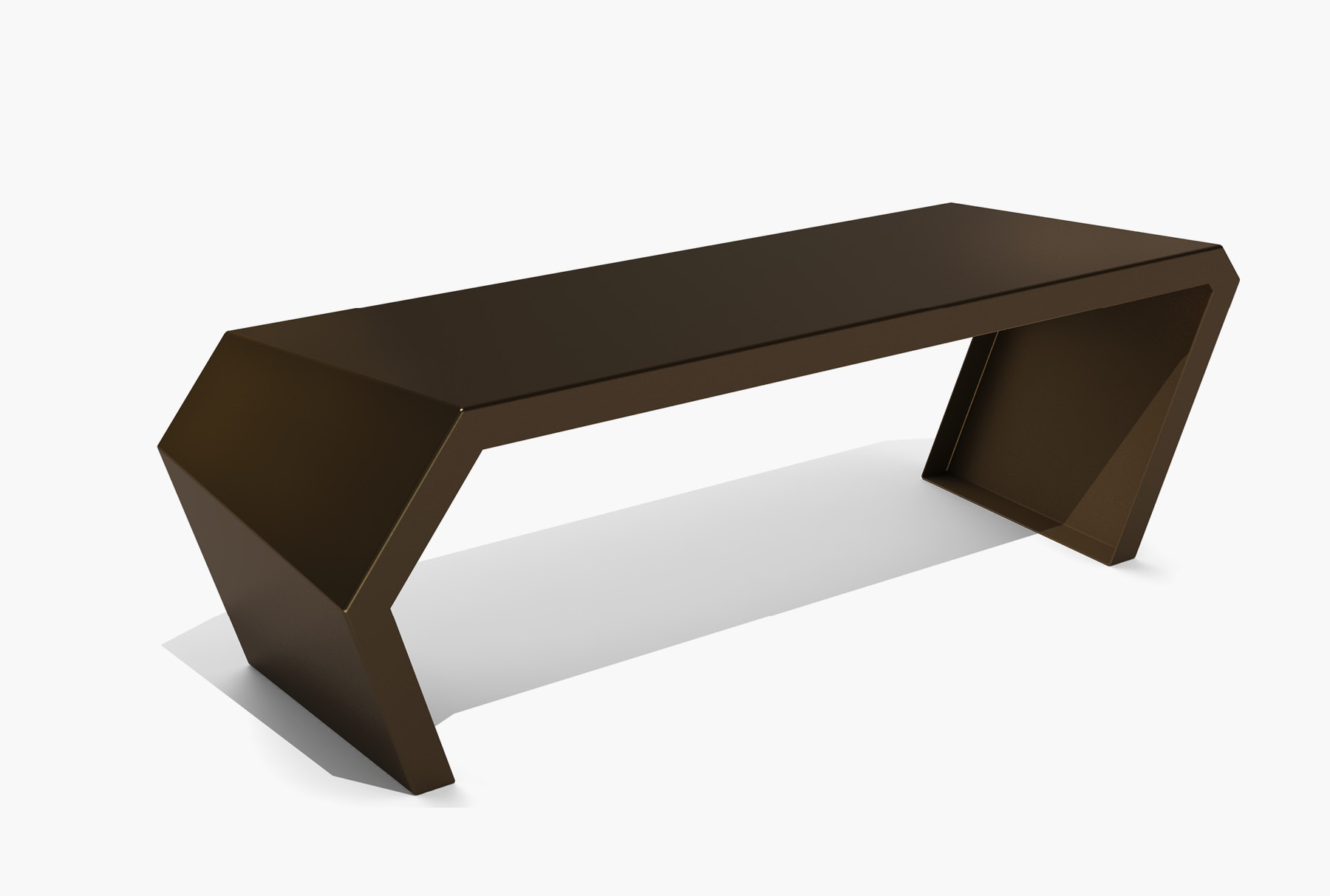 Arktura Pac Bench in Burnished Bronze