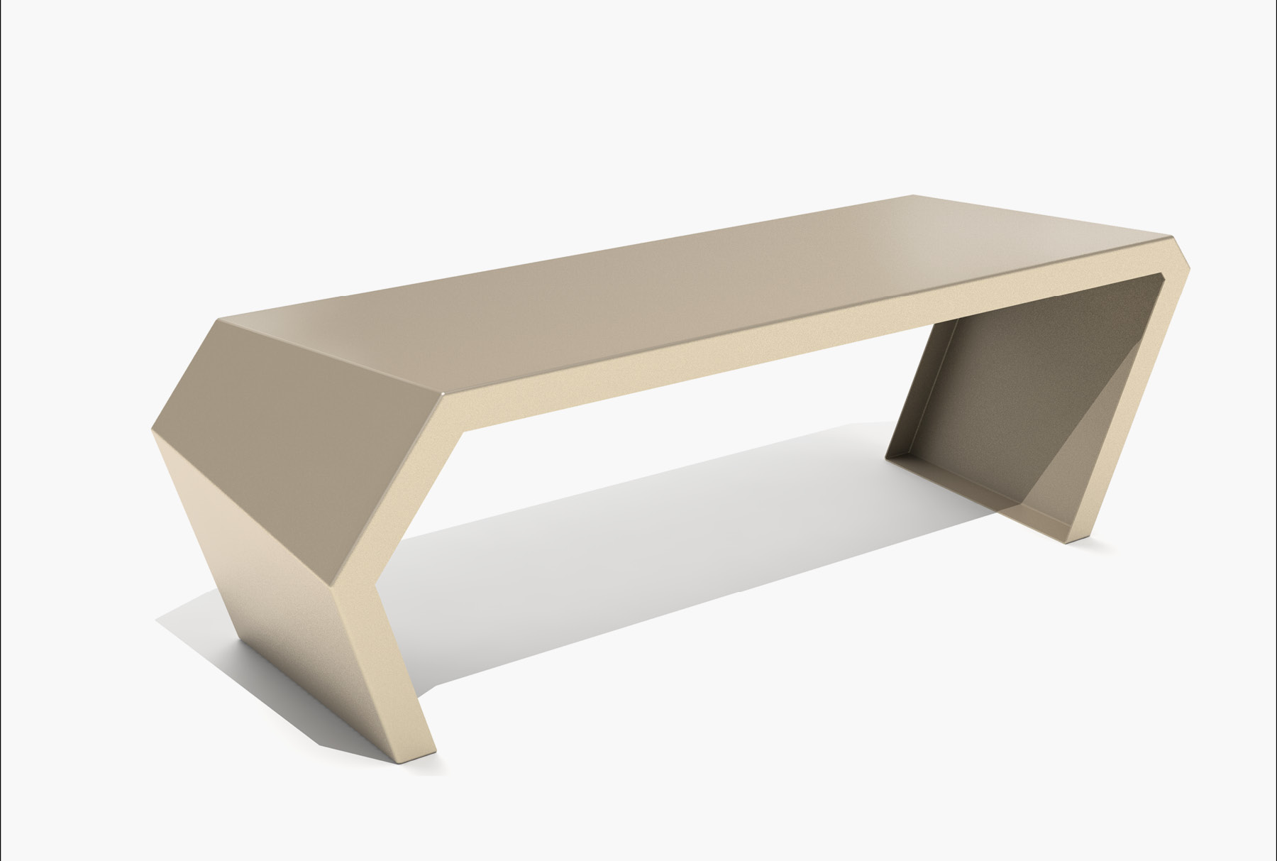 Arktura Pac Bench in Chilled Champagne