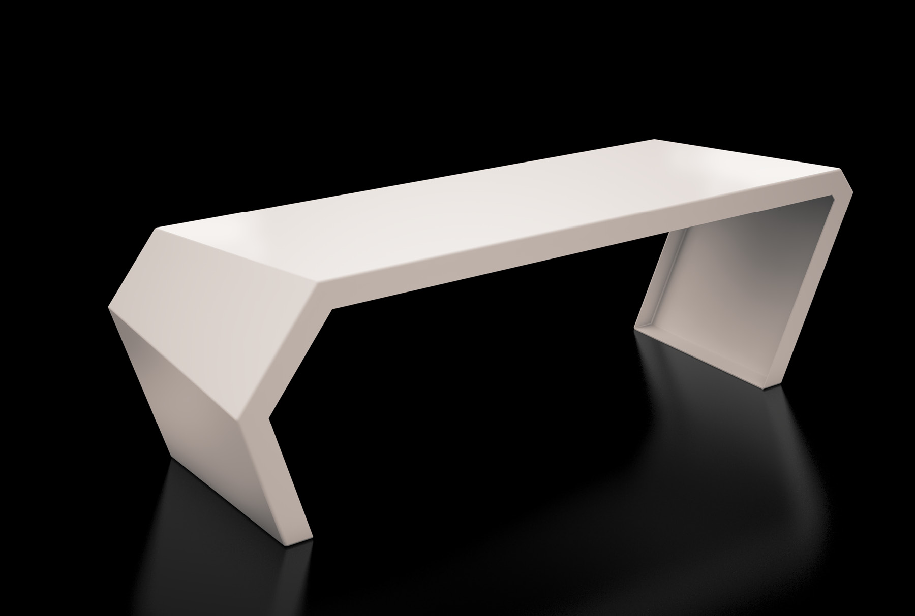 Arktura Pac Bench in Cream White