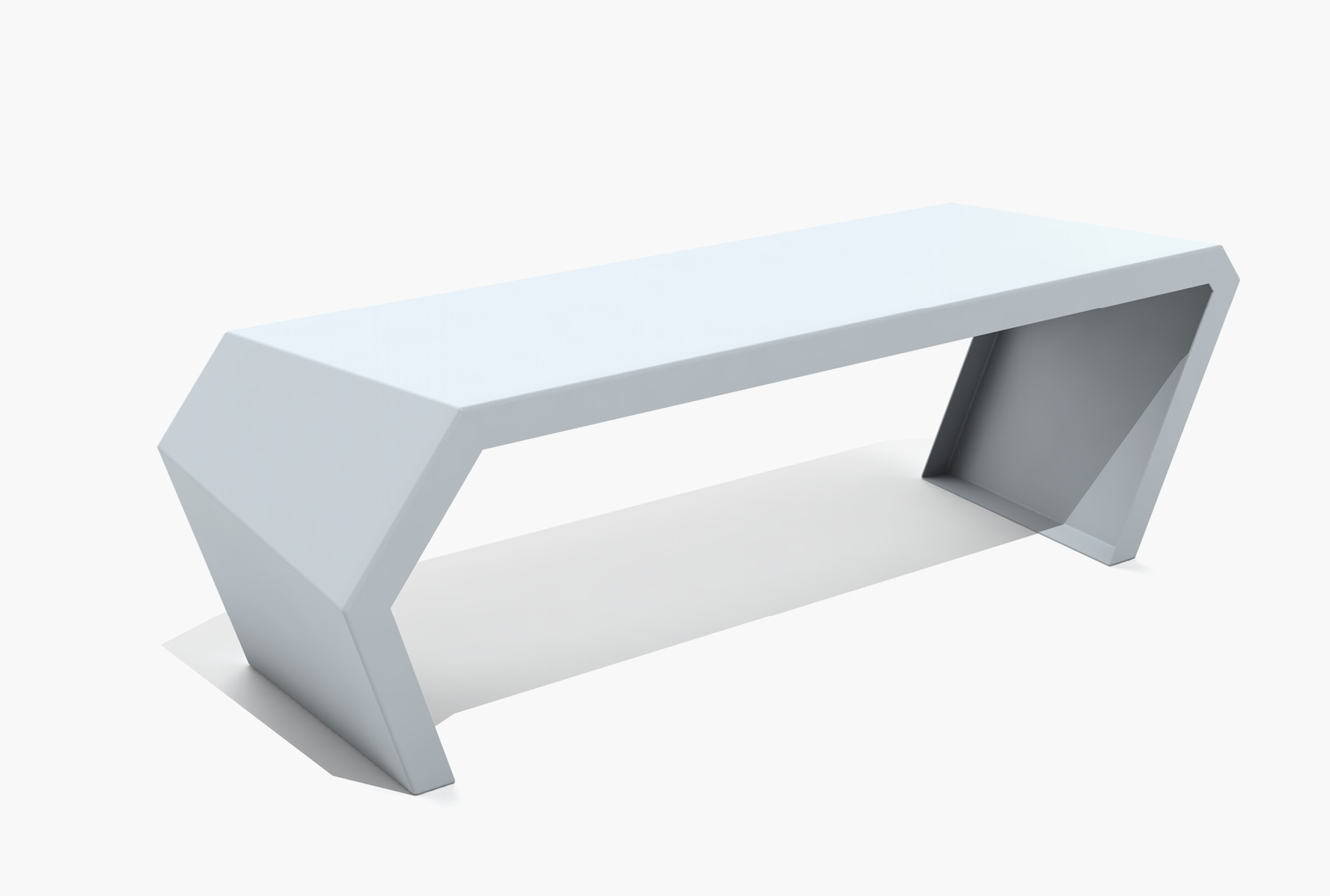 Arktura Pac Bench in Glacier Gray