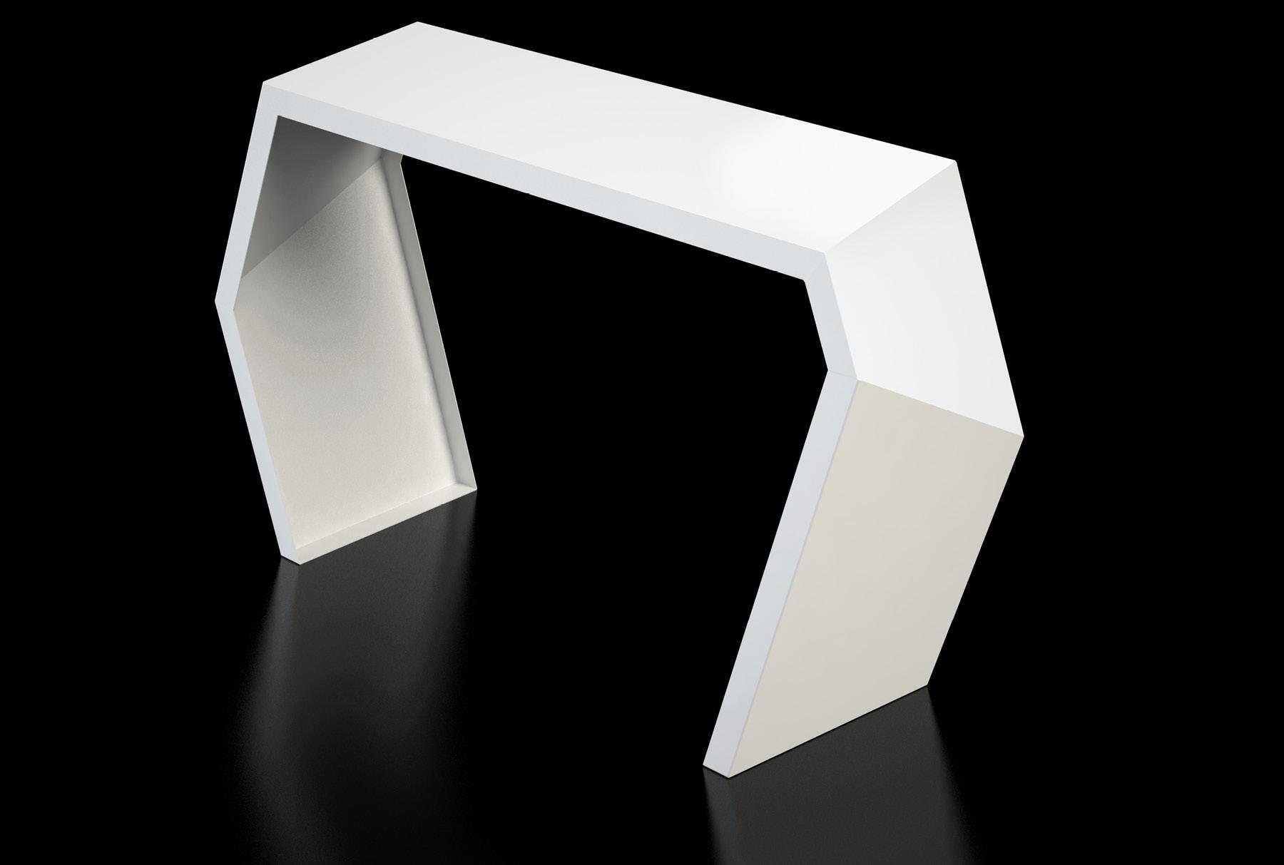 Arktura Pac Console in Brilliant white