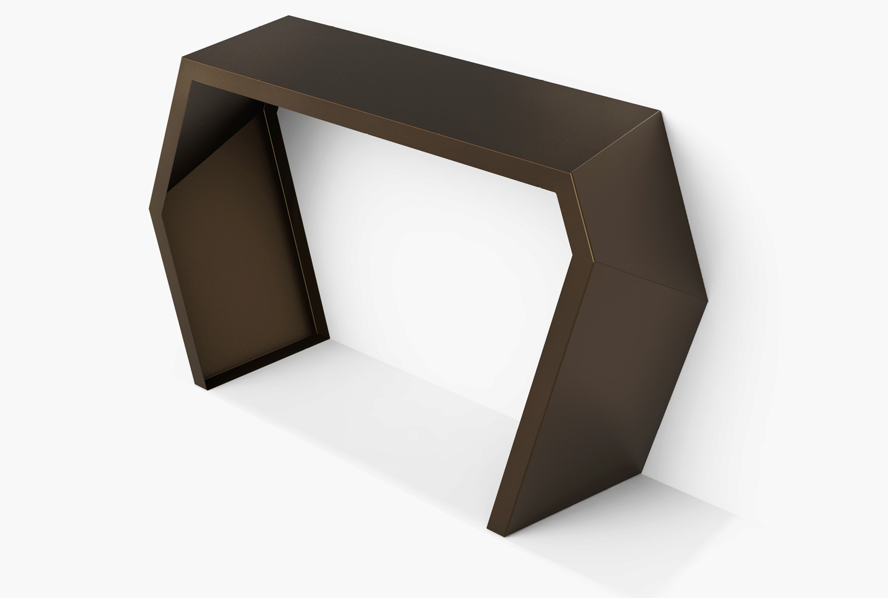 Arktura Pac Console in Burnished bronze