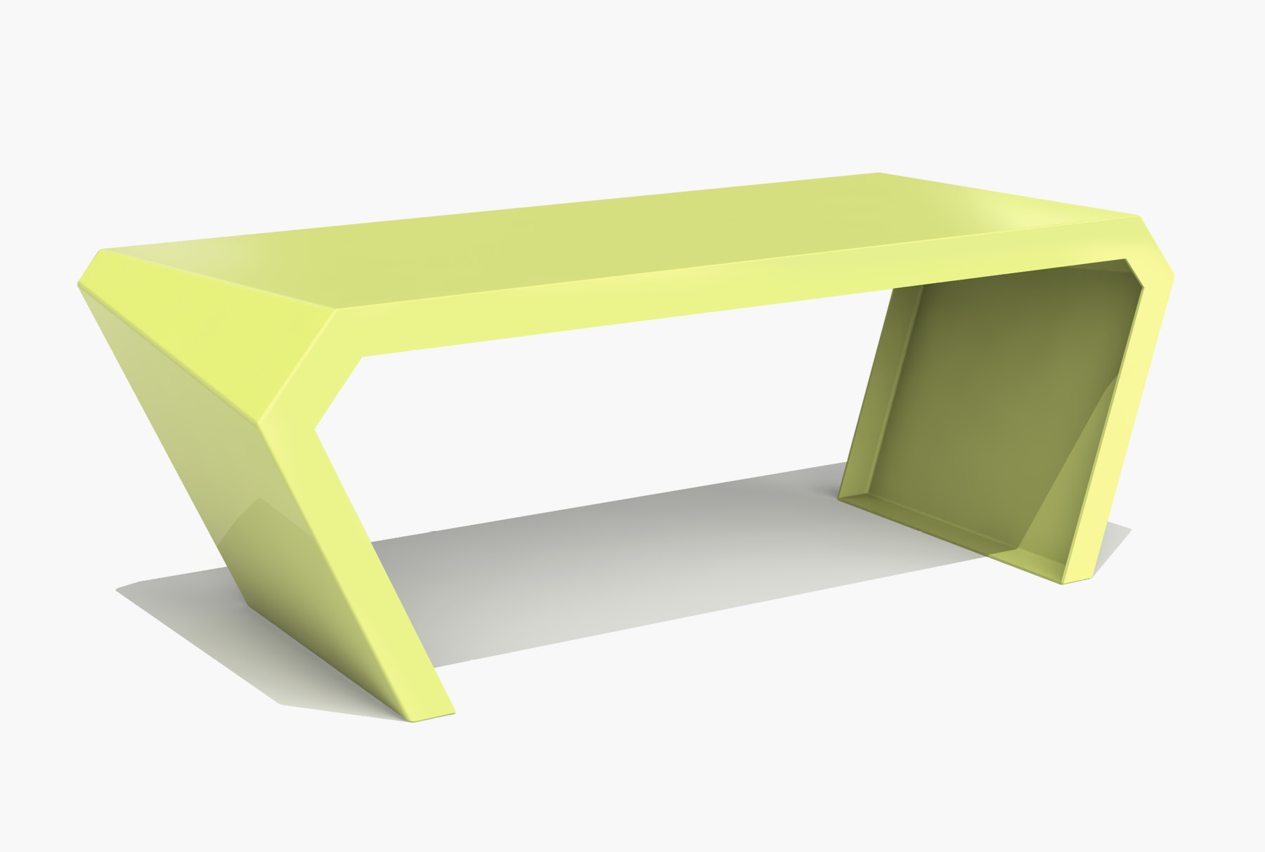 Arktura Pac Desk in Lush Green