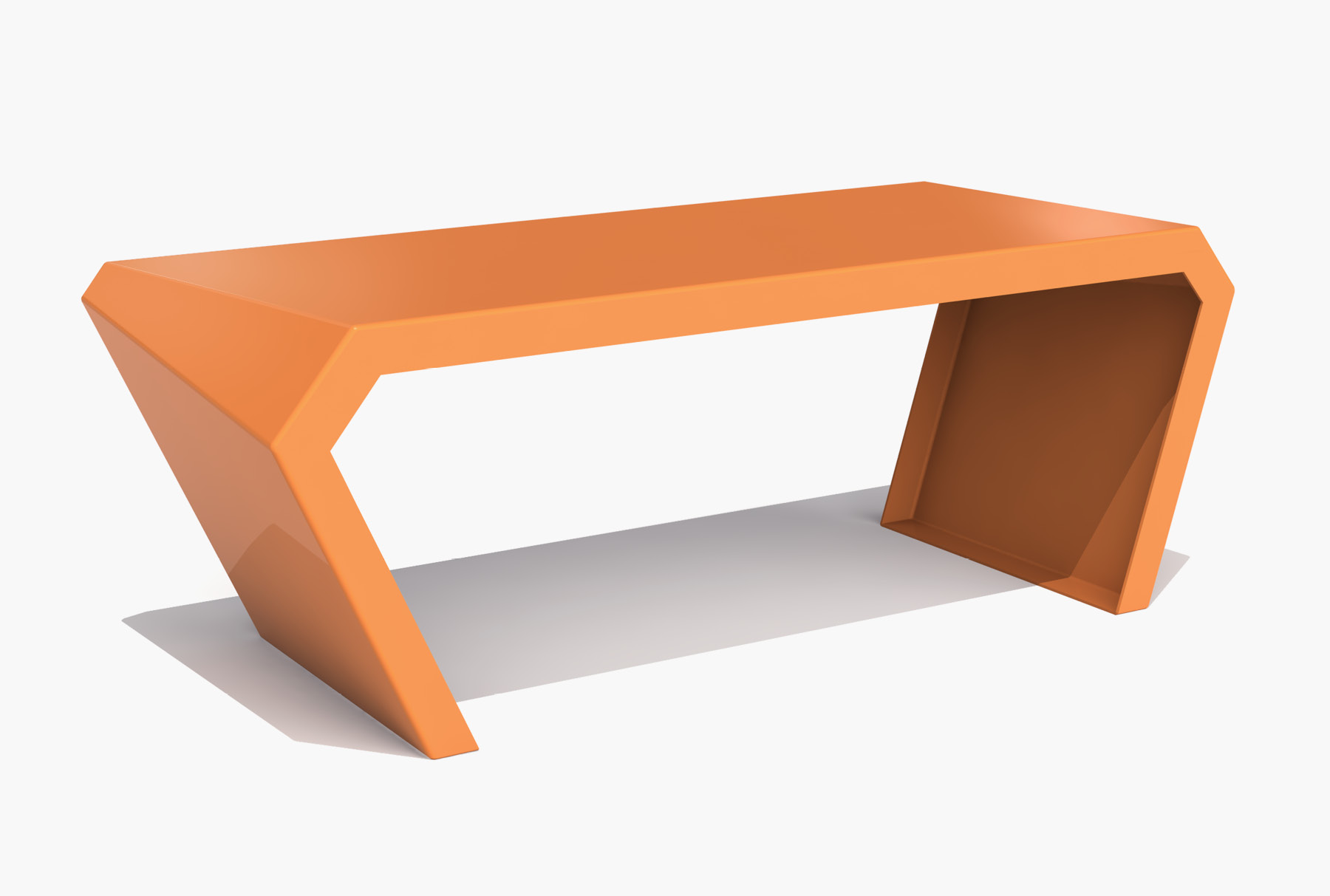 Arktura Pac Desk in Salmon Sky