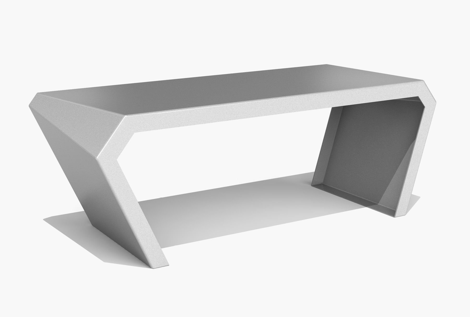 Arktura Pac Desk in Silver Sky