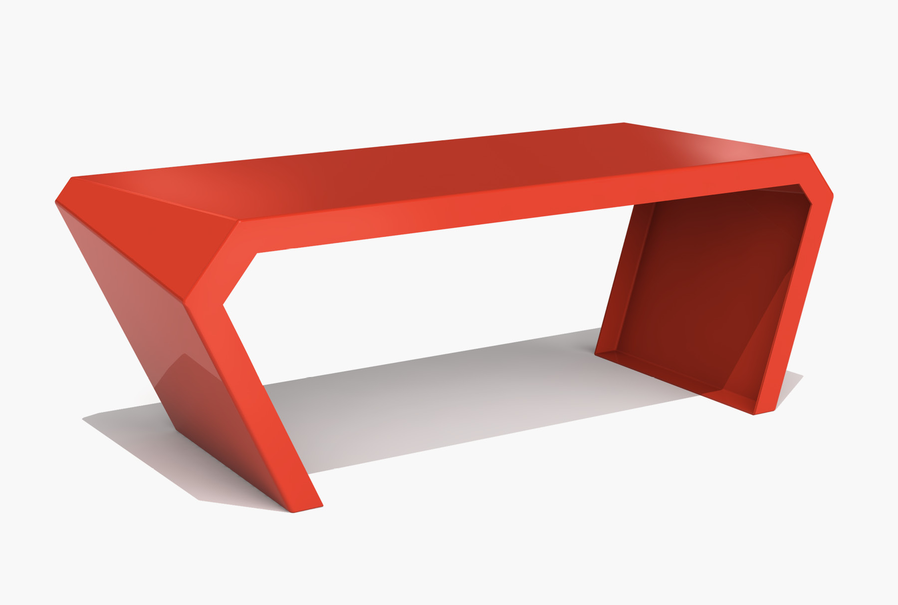 Arktura Pac Desk in Spirit Red