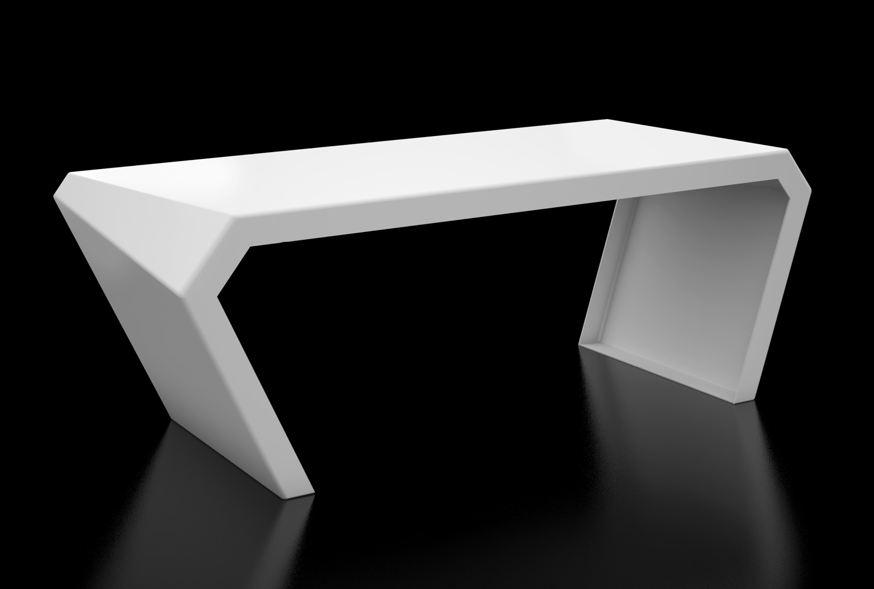 Arktura Pac Desk in Brilliant White