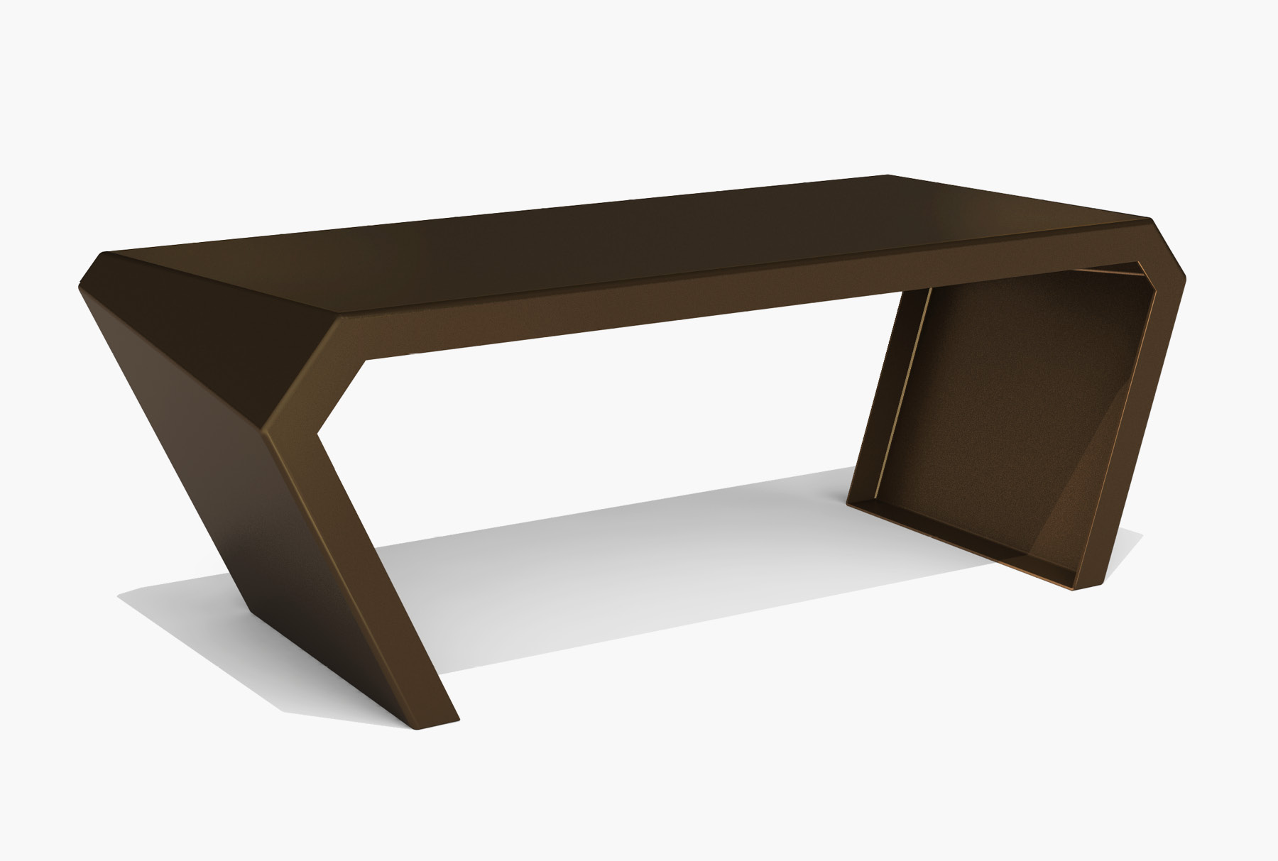 Arktura Pac Desk in Burnished Bronze