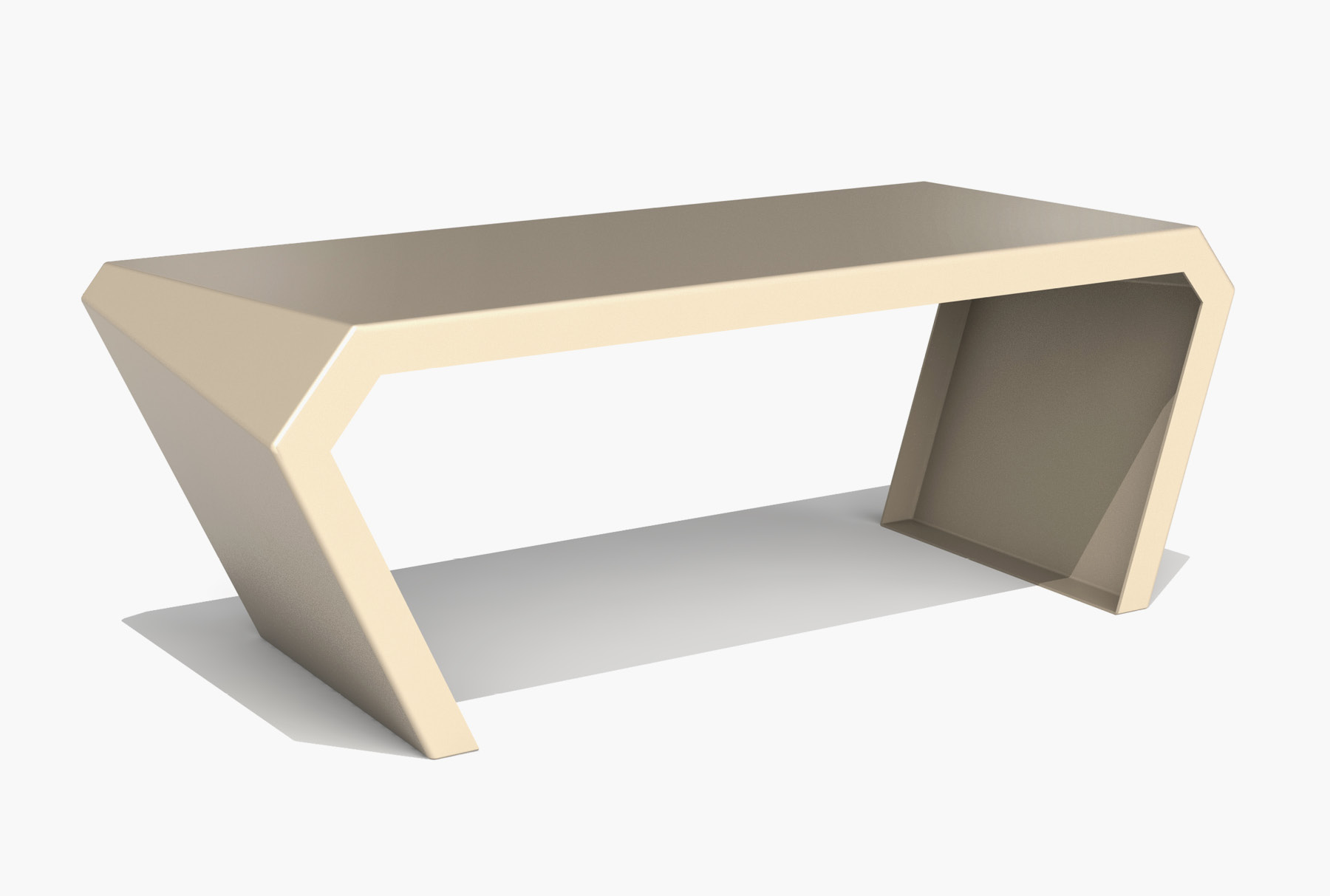 Arktura Pac Desk in Chilled Champagne