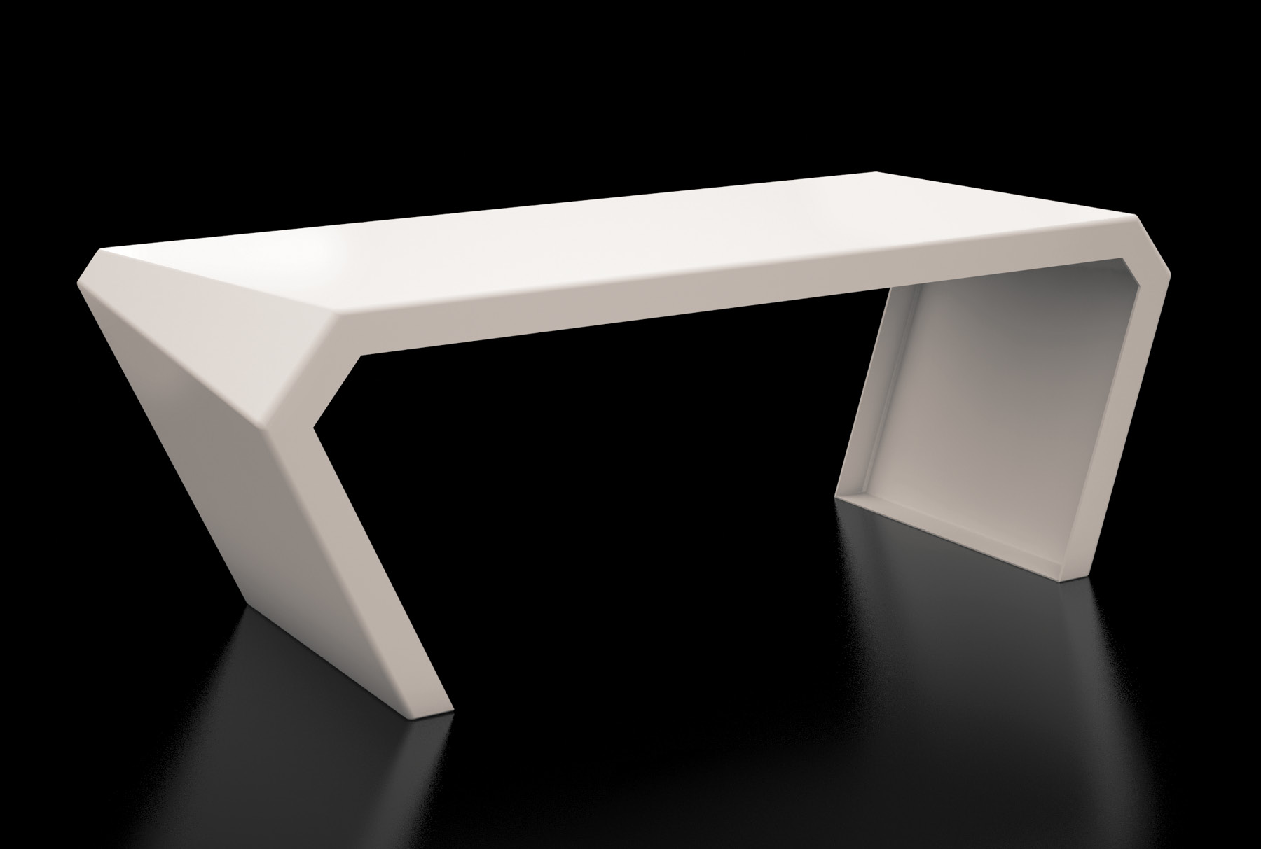 Arktura Pac Desk in Cream white