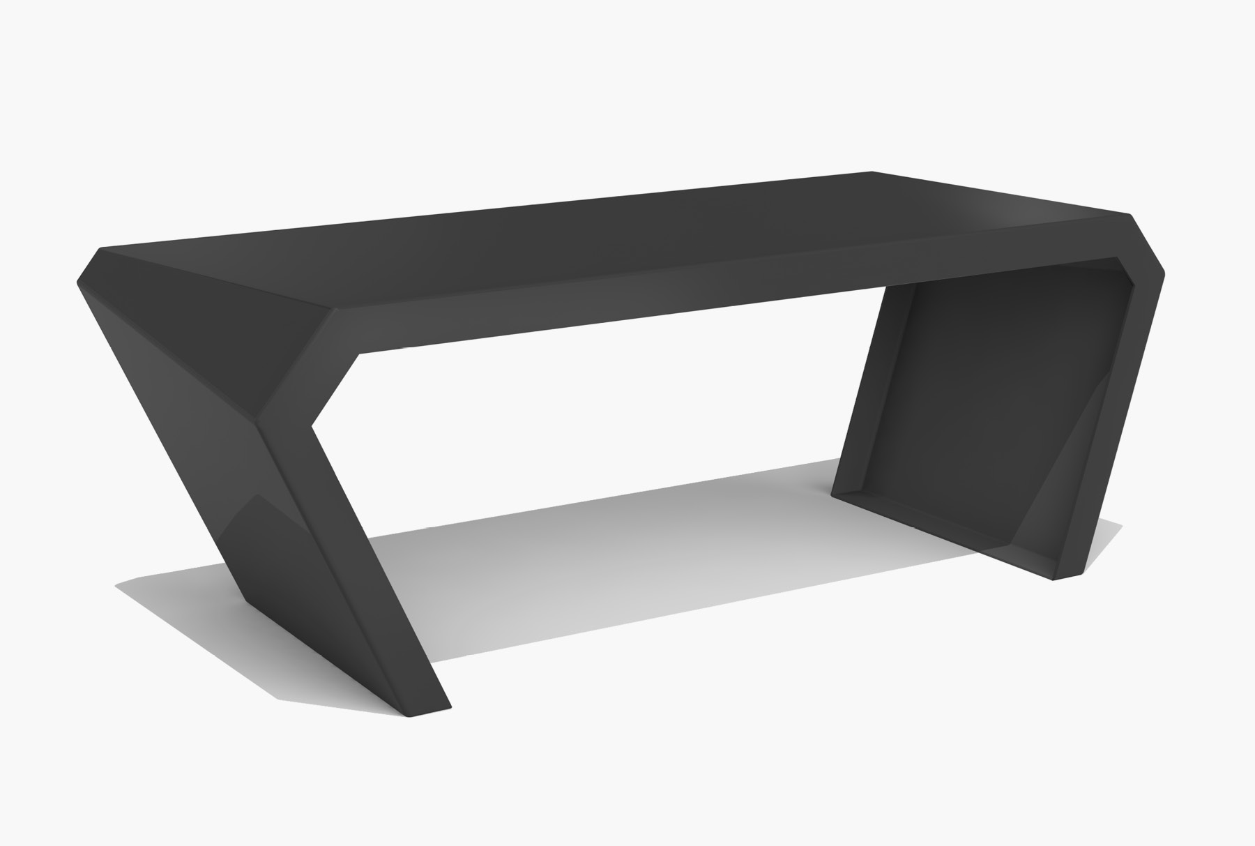 Arktura Pac Desk in Jet Black