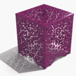 Arktura Ricami Stool in Wild Orchid