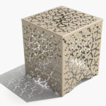 Arktura Ricami Stool in Chilled Champagne
