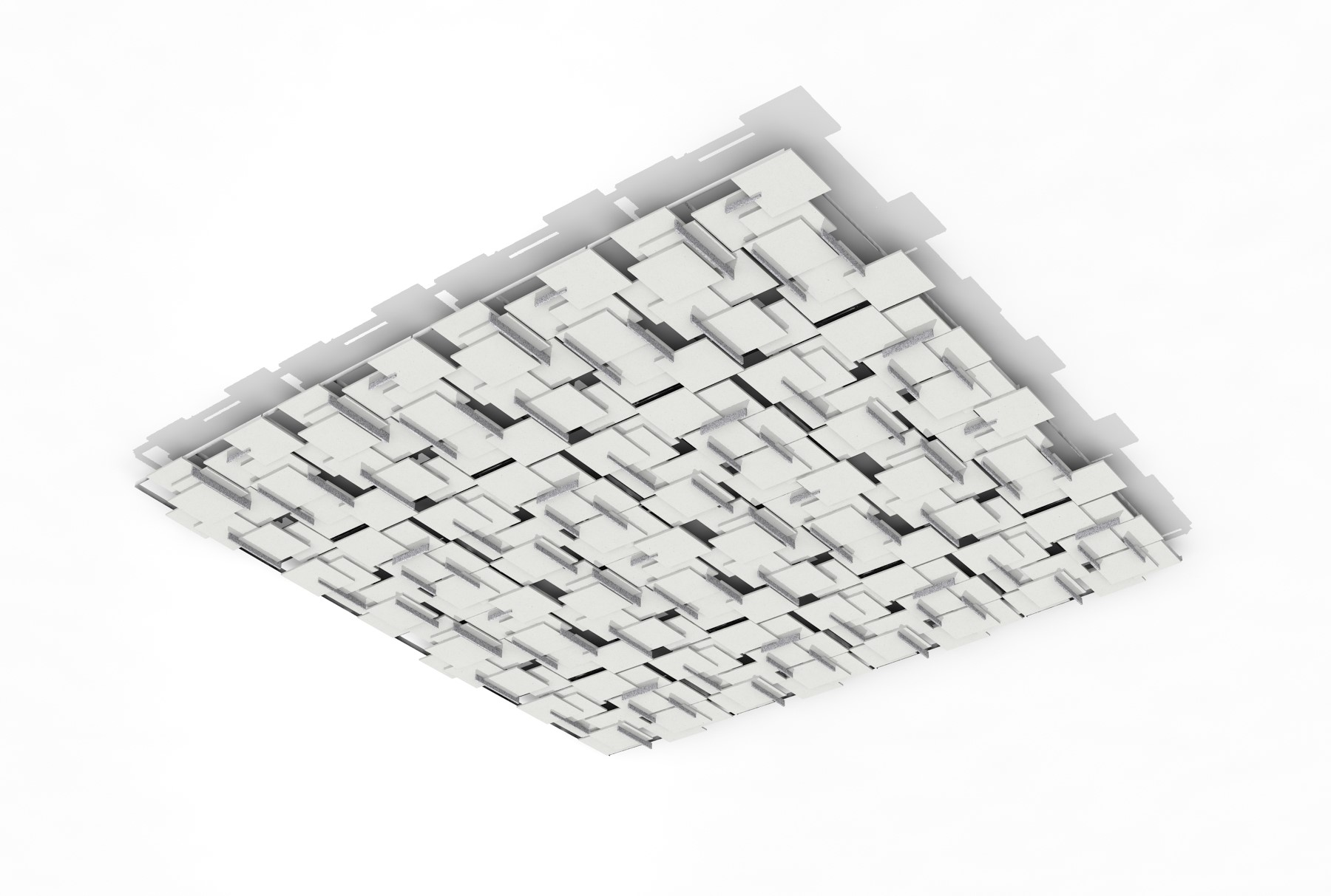 SoftPlanes® acoustical system - white planes with grey verticals