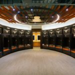 Arktura Atmosphera® Ripple installed in UT Volleyball locker room