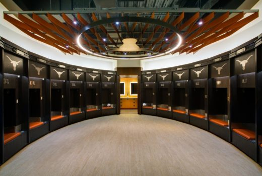 Arktura Atmosphera® Ripple installed in UT Volleyball locker room