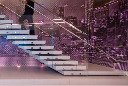 Arktura Graphic Perf® Photoreal Interior installed along stairs