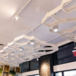 Close up of Arktura Atmosphera® Pulse installed in Lululemon store