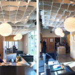 SoftGrid® Sine acoustical system with integrated lighting installed at Killfer