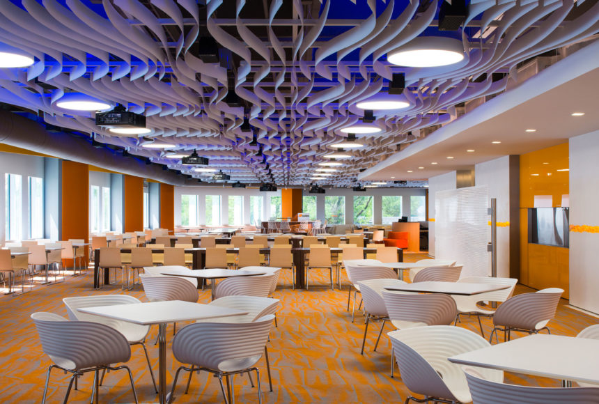 Arktura Atmosphera® Contour installed in conference room