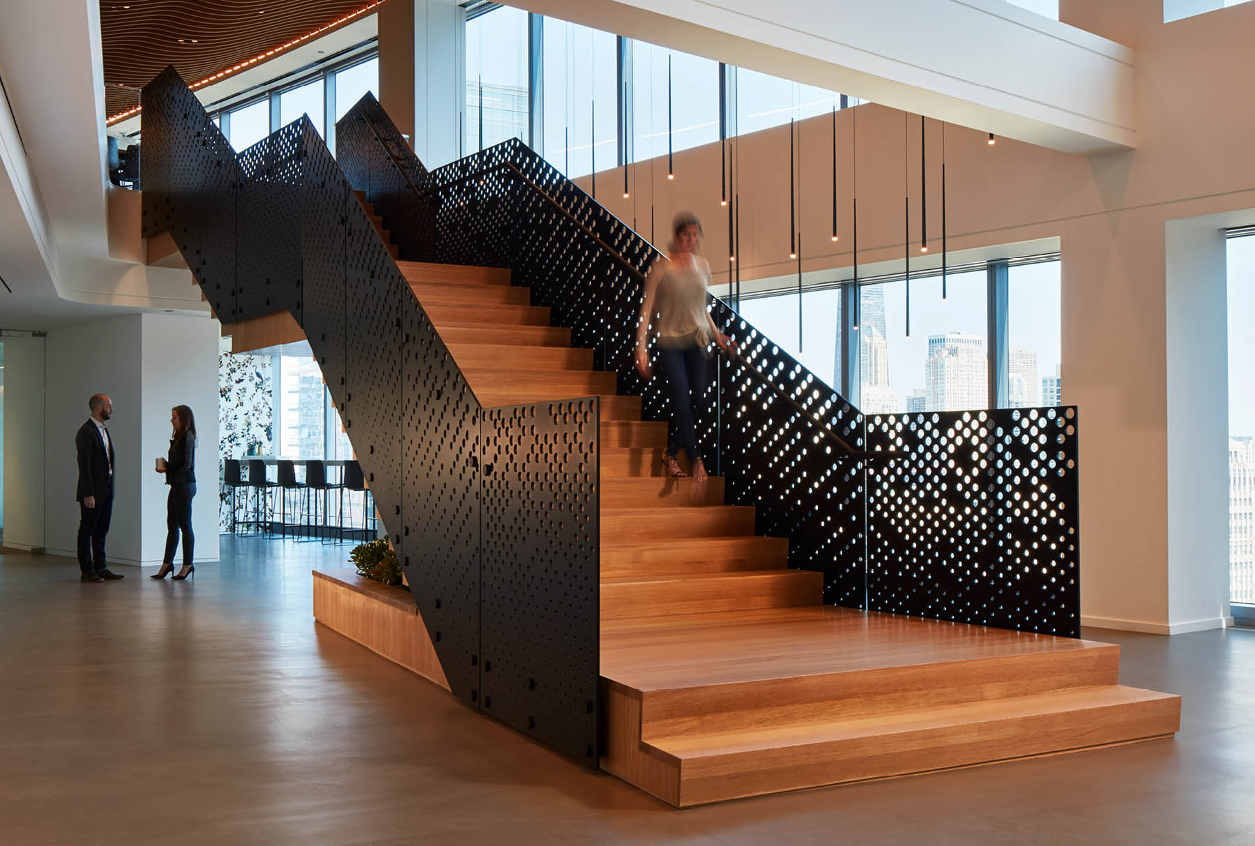 Arktura Graphic Perf® Scripted stair railing for mead johnson