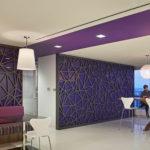 Arktura Solution Studio perforated panel in Apache