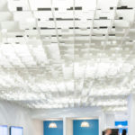 SoftGrid® Skyline acoustical system with integrated lighting closeup