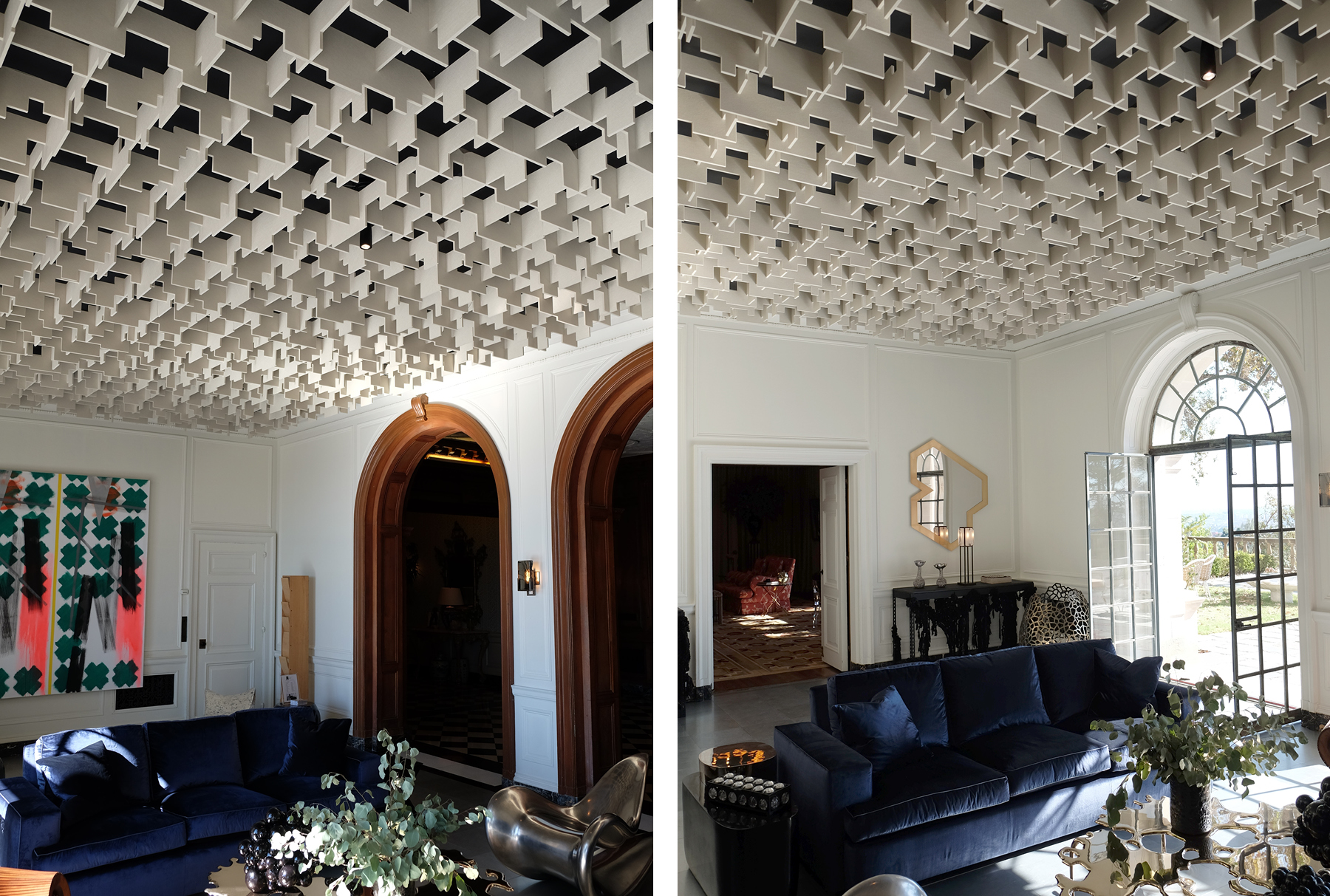 SoftGrid® Skyline acoustical system installed in Greystone Manor