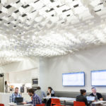 SoftGrid® Skyline acoustical system installed in Publicis workspace.