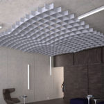 SoftGrid® Dome acoustical system installed in lobby.