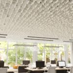 SoftGrid® Skyline acoustical system installed above office