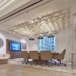 SoftGrid® Skyline acoustical system installed in conference room