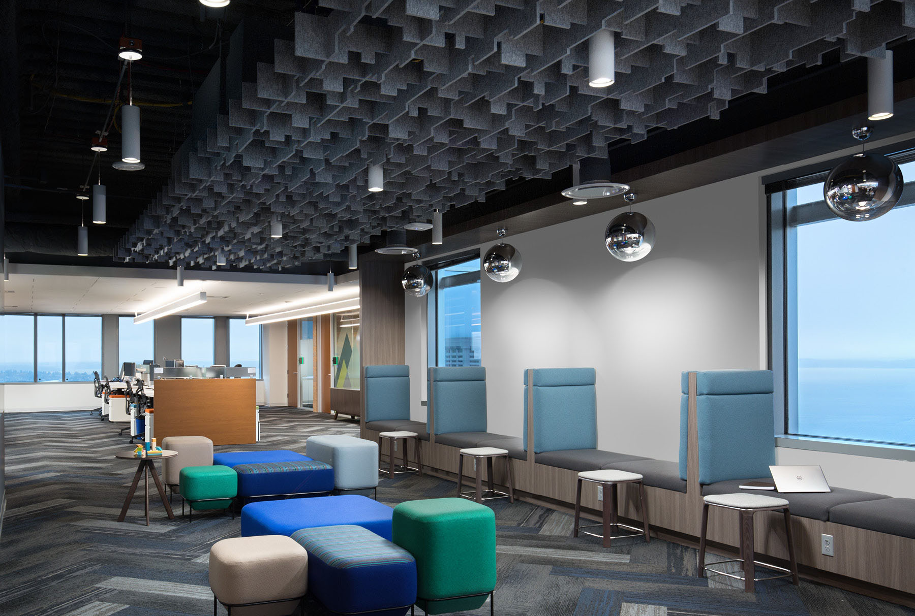 SoftGrid® Skyline acoustical system installed in Zillow office.