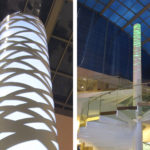 Strand Tower made with backlit perforated panels by Arktura Solutions Studio for Westfield