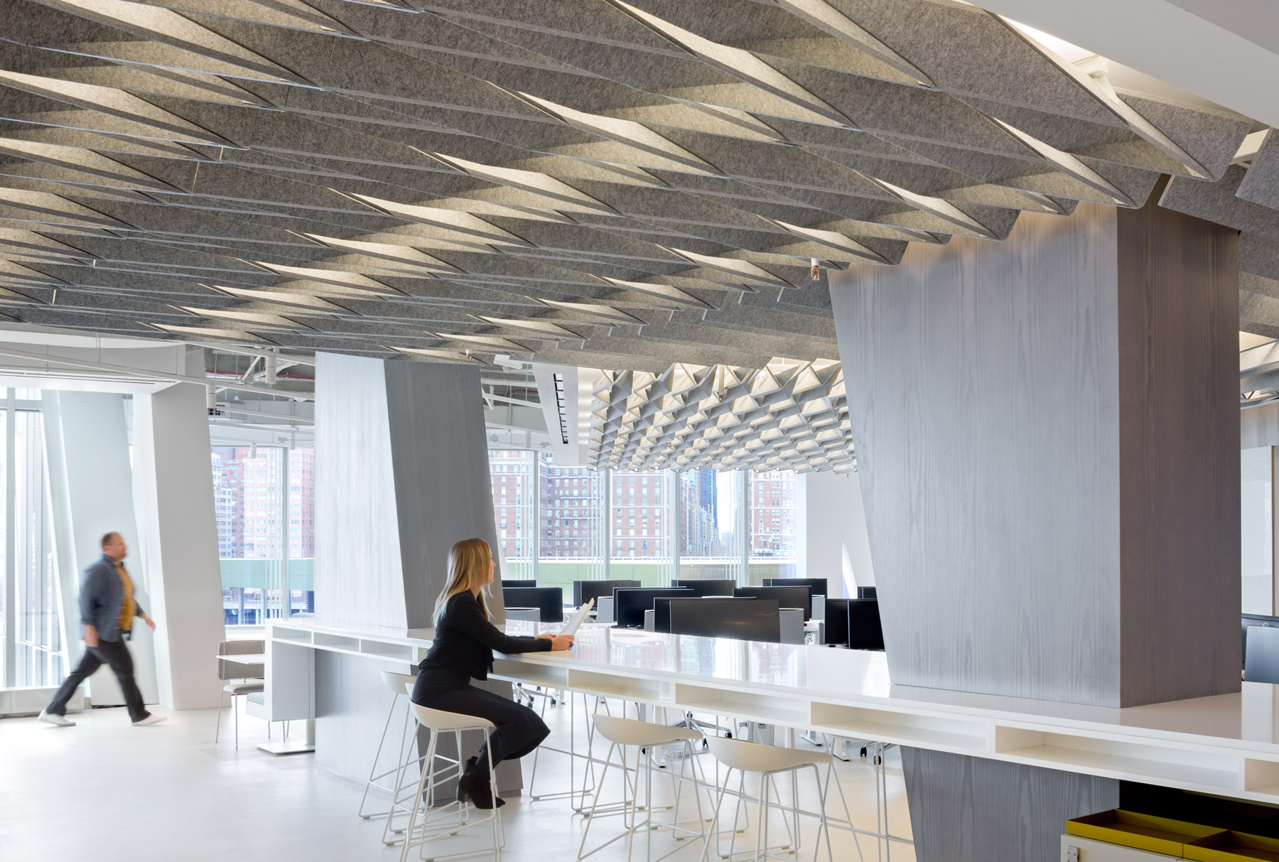 Modular Acoustic Ceiling System Arktura Softfold 174