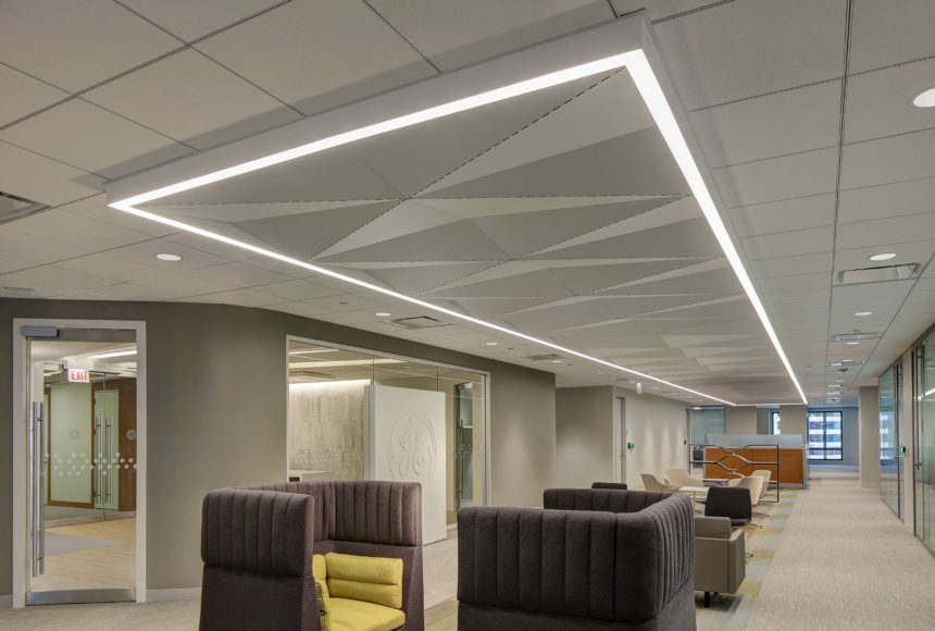 Delta Drop®solid panels installed in GE Health lobby.