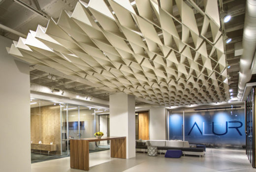 SoftFold® acoustical system installed in Alur lobby