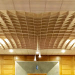 SoftGrid® Dome acoustical system installed in Beth El Congregation close up