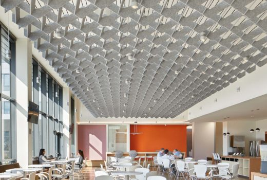 SoftGrid® Wave acoustical system installed above workspace