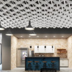 SoftGrid® Wave acoustical system installed in office/kitchen