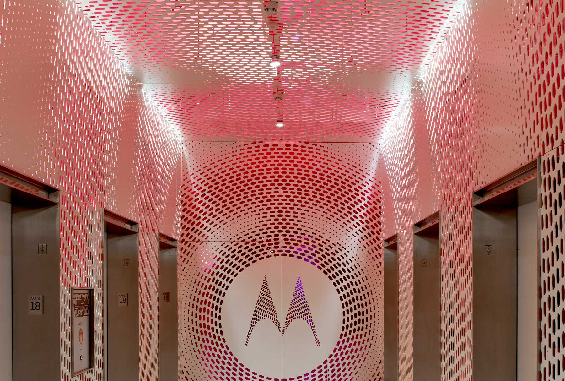 Arktura Graphic Perf® Scripted for Motorola elevator lobby