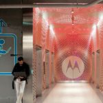 Arktura Graphic Perf® Scripted in Motorola elevator lobby