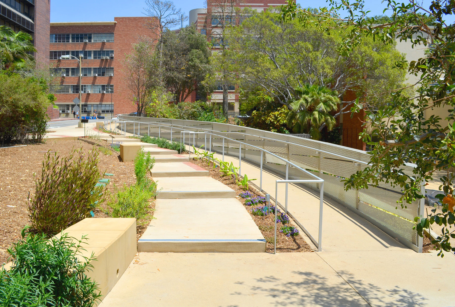 Perforated metal guardrail by Arktura Solutions Studio for UCLA