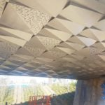 Delta Drop® 4x4 and 2x4 with custom pattern installed at Nike Bridge