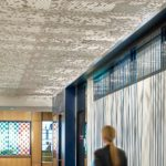 Close up of Arktura Vapor® Cluster Dense installed in hallway.