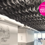 SoftFold®acoustical system installed above office