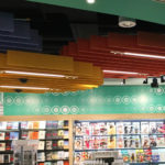 SoftGrid® Round acoustical system installed at Trip Advisor airport store.