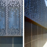 Arktura Solutions Studio featuring perforated screens for residence
