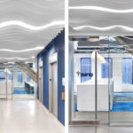 Close ups of Arktura Atmosphera® Analog 3D installed in Year Up office