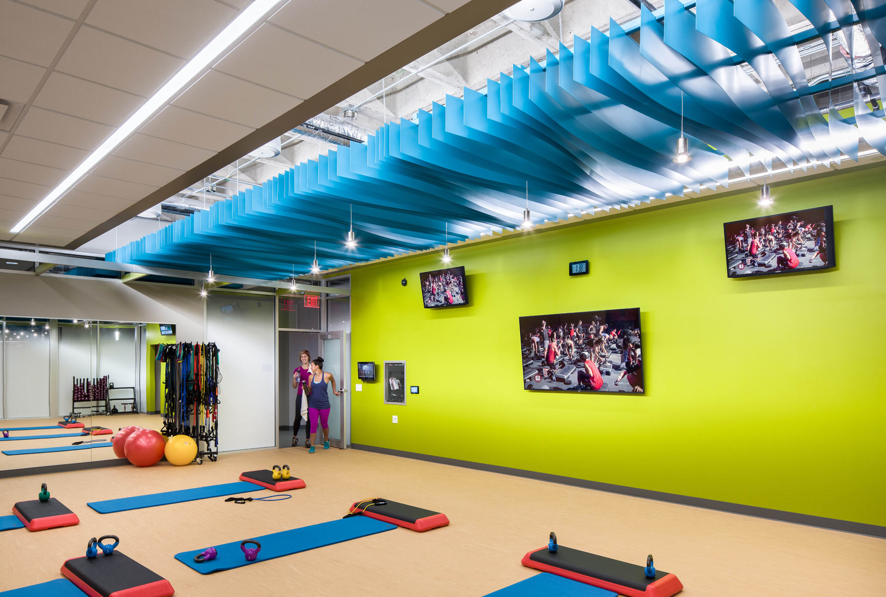 Arktura Atmosphera® Contour installed in ACT exercise room